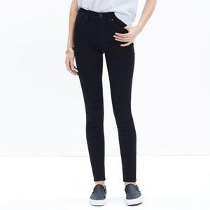 "Madewell 9"" High Rise Skinny Jeans Black Long Tall"